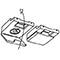 Plafondsteun gordijnrails G-2102 smalspoor (2150)