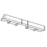 Einddeksel gordijnrails G-2904 (Wit) (2953-04)
