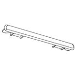 Einddeksel gordijnrails G-2905 (Wit) (2953-56)
