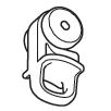 Rollerglijder (Wit) (4030-W)
