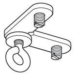 Hoekverbinder met oog (4048)