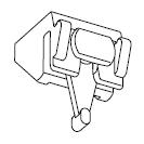 Plafondsteun met draaineus (7450)