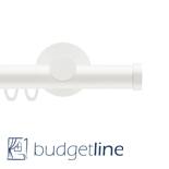 Gordijnroede Railroede Budgetline 28 mm wit