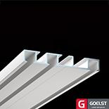 Goelst Dubbele gordijnrails G-4530 | 3 brede sporen