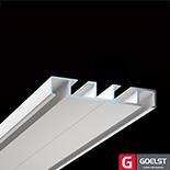 Goelst Dubbele gordijnrails G-4540 | 2 brede sporen