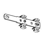 Voorloper zonder overlap voor alle Goelst gordijnrails (4075) |o.a. voor trekstang - Wit